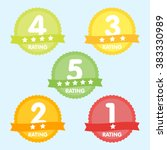 rating label with five... | Shutterstock .eps vector #383330989