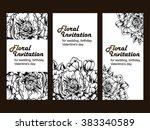 vintage delicate invitation... | Shutterstock .eps vector #383340589