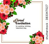 romantic invitation. wedding ... | Shutterstock . vector #383347027