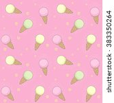 seamless vector pattern with... | Shutterstock .eps vector #383350264