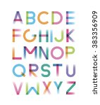 font is disappearing with... | Shutterstock .eps vector #383356909