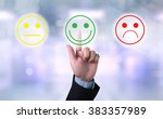 business man select happy on... | Shutterstock . vector #383357989