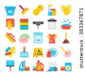 household supplies icons set....