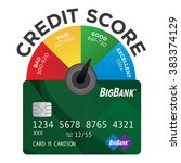 credit score chart or pie graph ... | Shutterstock .eps vector #383374129