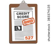 credit score sheet on clipboard ... | Shutterstock .eps vector #383374135