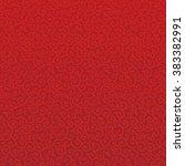 red arabesque background | Shutterstock .eps vector #383382991