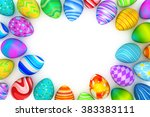 colorful easter eggs background | Shutterstock . vector #383383111