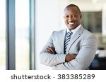 cheerful african american... | Shutterstock . vector #383385289