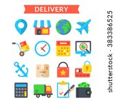 delivery icons set. shipping ...