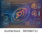 hud ui for business app.... | Shutterstock .eps vector #383386711