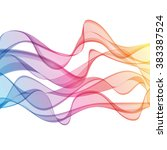 color wave background | Shutterstock .eps vector #383387524
