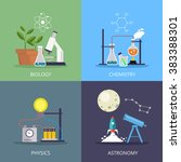 biology and physics  chemistry... | Shutterstock .eps vector #383388301