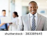 good looking african american... | Shutterstock . vector #383389645