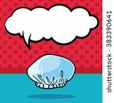 shower cap doodle  speech bubble | Shutterstock .eps vector #383390641