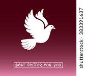 dove sign icon  vector... | Shutterstock .eps vector #383391637