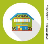 warehouse flat icon   Shutterstock .eps vector #383393017