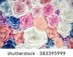 backdrop of colorful paper... | Shutterstock . vector #383395999