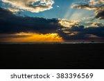 sunset on khao lak beach.phang... | Shutterstock . vector #383396569