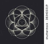 abstract sacred geometry.... | Shutterstock .eps vector #383403319