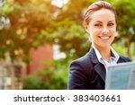 portrait of business woman...   Shutterstock . vector #383403661