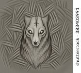 dead wolf | Shutterstock . vector #383403991