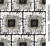 geometric pattern with abstract ... | Shutterstock .eps vector #383406541