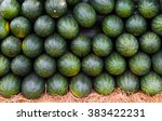 A Lot Of Green Watermelons For...