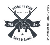 patriots club vintage logo with ... | Shutterstock .eps vector #383424499