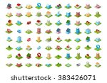 a set of colored icons... | Shutterstock .eps vector #383426071