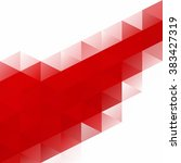 red grid mosaic background ... | Shutterstock .eps vector #383427319