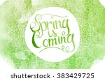 wake up. spring is coming... | Shutterstock . vector #383429725