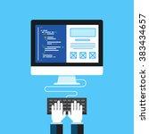 web development. flat design...   Shutterstock .eps vector #383434657
