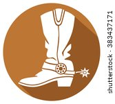 cowboy boot flat icon | Shutterstock .eps vector #383437171