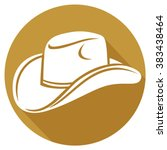 cowboy hat flat icon | Shutterstock .eps vector #383438464