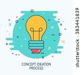 abstract vector creative idea... | Shutterstock .eps vector #383441839