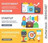 investment  startup ... | Shutterstock .eps vector #383442487