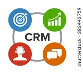crm   customer relationship... | Shutterstock .eps vector #383443759