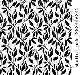 seamless pattern with flowers... | Shutterstock .eps vector #383446345