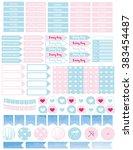 set rainy day printable planner ...   Shutterstock .eps vector #383454487
