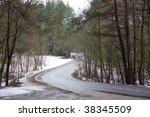 winding road in winter | Shutterstock . vector #38345509