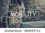 mobility mobile contemporary... | Shutterstock . vector #383455711