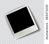old empty realistic photo frame ... | Shutterstock .eps vector #383471035