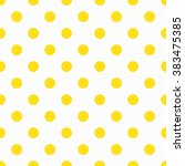 yellow polka dot pattern.... | Shutterstock .eps vector #383475385