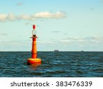 navigation buoy at the edge of... | Shutterstock . vector #383476339