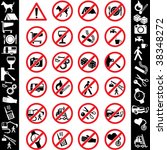 range of prohibition signs.... | Shutterstock .eps vector #38348272