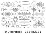 set vintage borders  frame and... | Shutterstock .eps vector #383483131