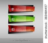 business banner for infographic ... | Shutterstock .eps vector #383484457