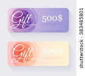 gift voucher template with...   Shutterstock .eps vector #383485801
