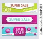 set of sale banners design ... | Shutterstock .eps vector #383486029