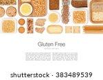 various gluten free grains and... | Shutterstock . vector #383489539